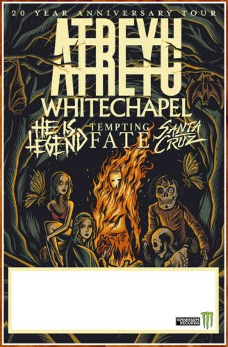 ATREYU | WHITECHAPEL | HE IS LEGEND 2019 Ltd Ed New RARE Tour Poster! Metal Rock