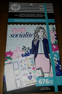 The Happy Planner Girls Accessory Book Socialite 676 Pcs Sticker Sheets Notes
