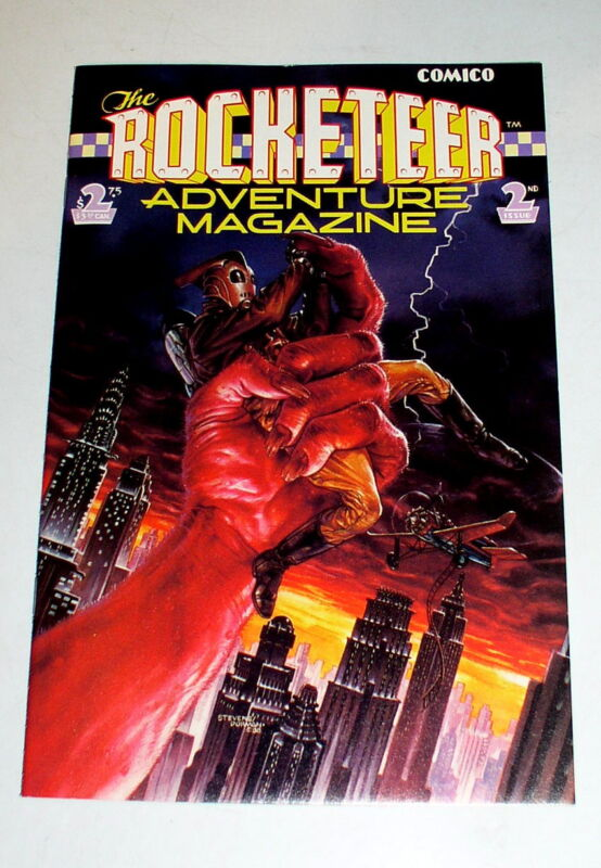 ROCKETEER ADVENTURE MAGAZINE #2   DAVE STEVENS AND MIKE KALUTA  1989