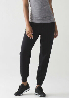 LULULEMON Women's Size 4 Solid Black CEREMONY SWEATPANT Jogger Pants MODAL