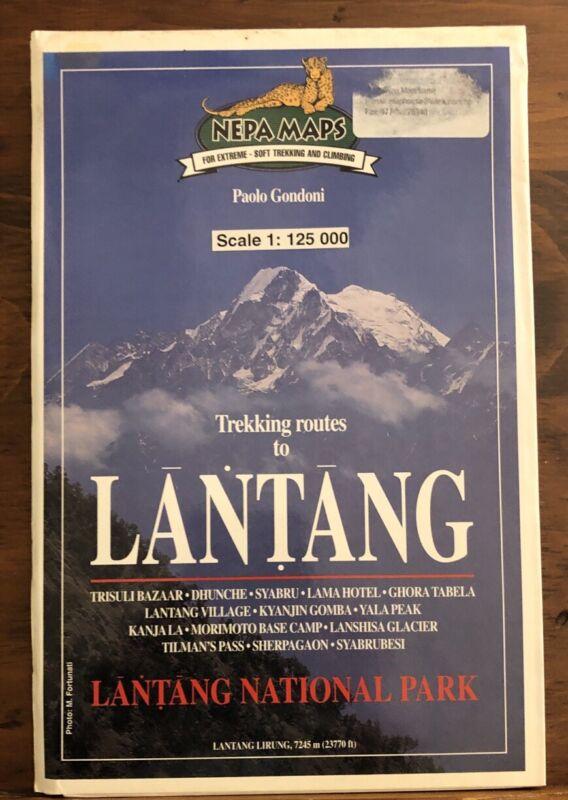 Trekking Routes To Lantang National Park Travel Map Nepal Himalayas