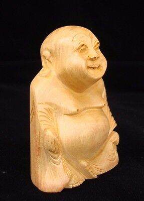 Happy Man laughing Buddha statue art Craft Good luck handmade gift decor