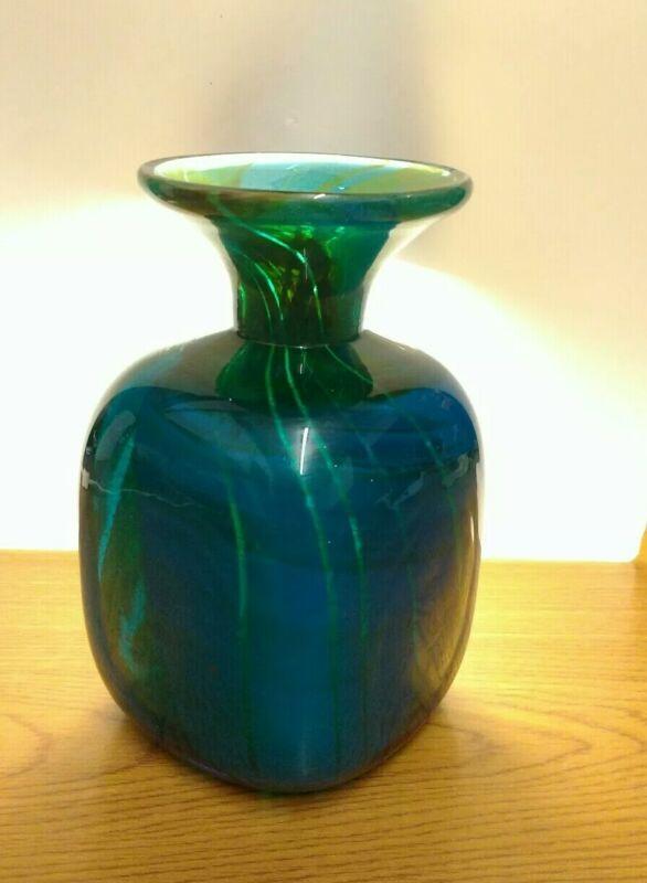 Mdina glass cube shape vase from the Ming range