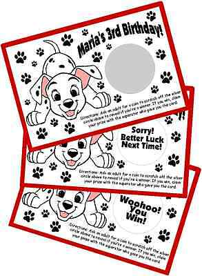 101 Dalmatians Party Supplies (101 DALMATIANS SCRATCH OFF GAME CARDS BIRTHDAY PARTY FAVORS SCRATCH)