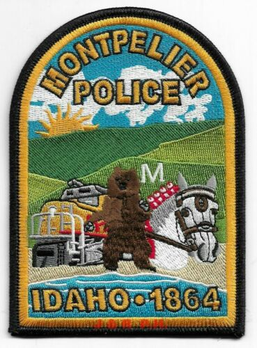 "*NEW*  Montpelier  ""Trains"", Idaho  (3.5"" x 5"") shoulder police patch (fire)"