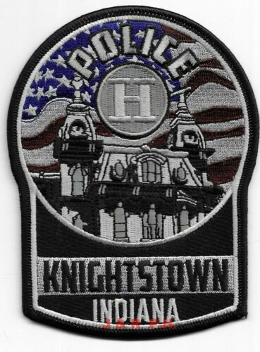 """*NEW*  Knightstown - Subdued, Illinois (3.75"""" x 5"""") shoulder police patch (fire)"""