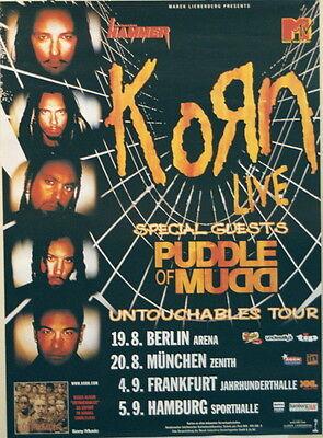 KORN CONCERT TOUR POSTER 2002 UNTOUCHABLES