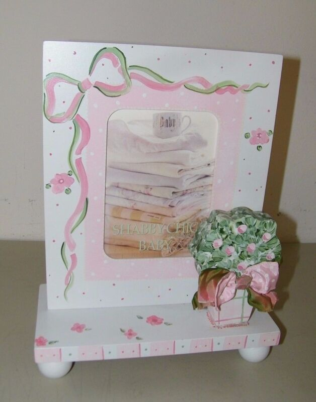 Rachel Ashwell Shabby Chic Baby Photo Frame Picture Pink Girl Infant 15890