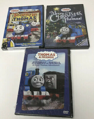 Thomas the Tank Engine Steamies vs. Diesels Merry Christmas Teams With Thomas
