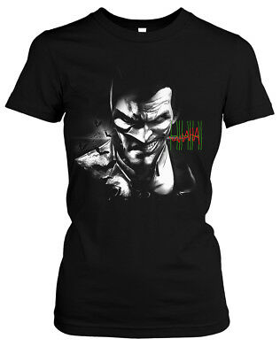 Evil Batman Damen Girlie T-Shirt | Hero Superhelden Movie Dark Knight Film Kult