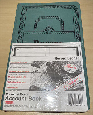 Boorum Pease Recordaccount Book Record Rule Blue 150 Pages 072156664016