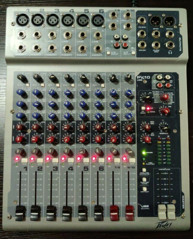 Peavey PV10USB DJ Mixers