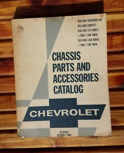 Delightful Vintage Chevrolet Chassis Parts And Accessories Catalog 1968 EUC!
