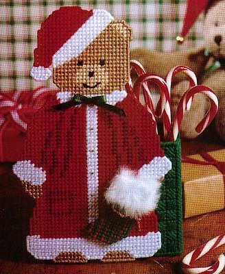 SANTA BEAR CANDY KEEPER BOX CHRISTMAS PLASTIC CANVAS PATTERN INSTRUCTIONS