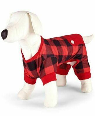 Family PJs Matching Fleece Navidad Pet Sweater Red Buffalo Check XS