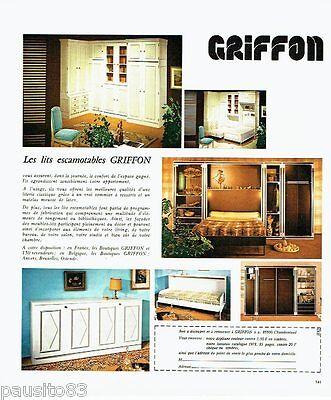 Publicite advertising 116  1978  lits escamotables  griffon meubles