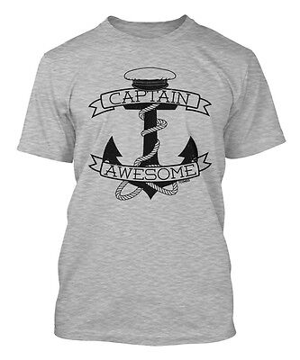 Captain Awesome - Sailor Hat Boat Anchor Men's T-shirt - Hat T Shirt