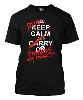 Run Keep Calm Zombies Are Coming- Halloween Men's T-shirt - Halloween Running Shirts
