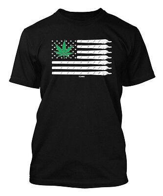 Marijuana American Flag - USA Weed Pot Men's T-shirt