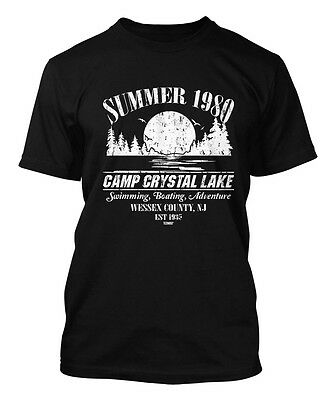 Summer 1980 Camp Crystal Lake - Jason Voorhees Horror Movie Men's T-shirt](Camp Crystal Lake)