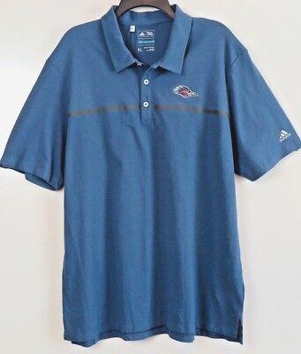 NWT Adidas Slate Blue Climalite Polo Shirt Size XL w/Raven Emblem MSRP $70