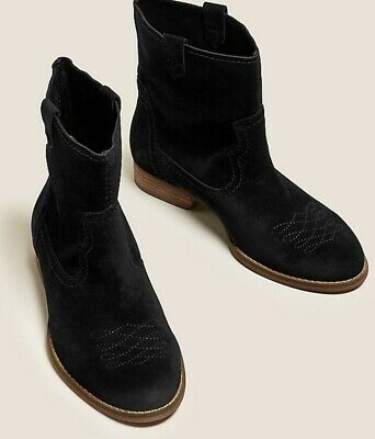 Details about  /SOBEYO Women Ankle Booties Leather Lining Insole Western Block Heel Boots