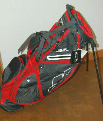 Sun Mountain 3.5 LS 4-Way Stand Bag - (Steel/ Red) *MINT*