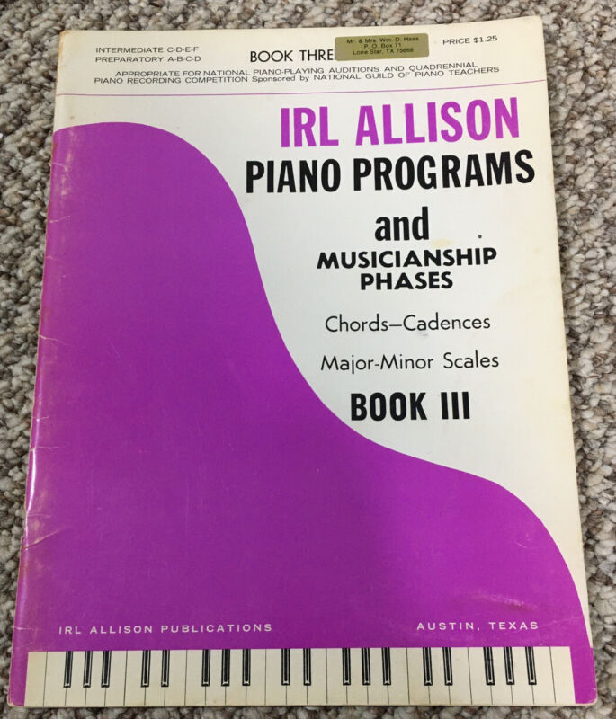 Ira Allison Piano Programs and Musicianship Phases Chords - Cadences Book III