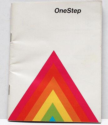 Polaroid One Step Rainbow Instant Film Land Camera Manual Guide English 1970s