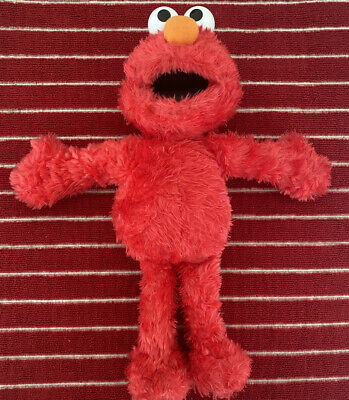 2002 Sesame Street Elmo Plush Soft Toy Stuffed Animal 13 1/2""