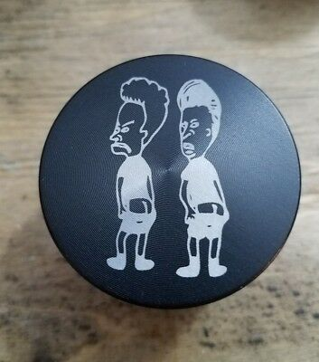 Beavis and butthead themed 4 piece herb grinder - black - Beavis And Butthead Theme