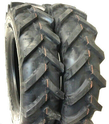 Two 6.00-14 6-14 R1 Tractor Tire Lug Demolition Set Of 2 Tires Implement