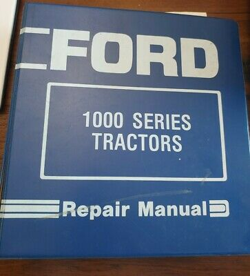 Ford 1000 Series 1300-1500 1700-1900 Tractors Service Repair Manual
