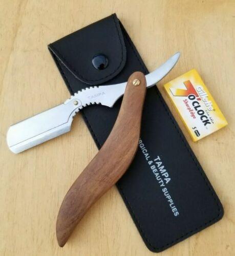 Professional Straight Razor Cut Throat Barber Salon + Blades