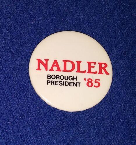 JERRY NADLER NEW YORK CONGRESS EARLY CAREER JEWISH TRUMP IMPEACH PINBACK BUTTON