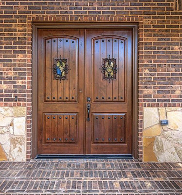 DOUBLE ENTRY DOOR KNOTTY ALDER 6ft x 8ft