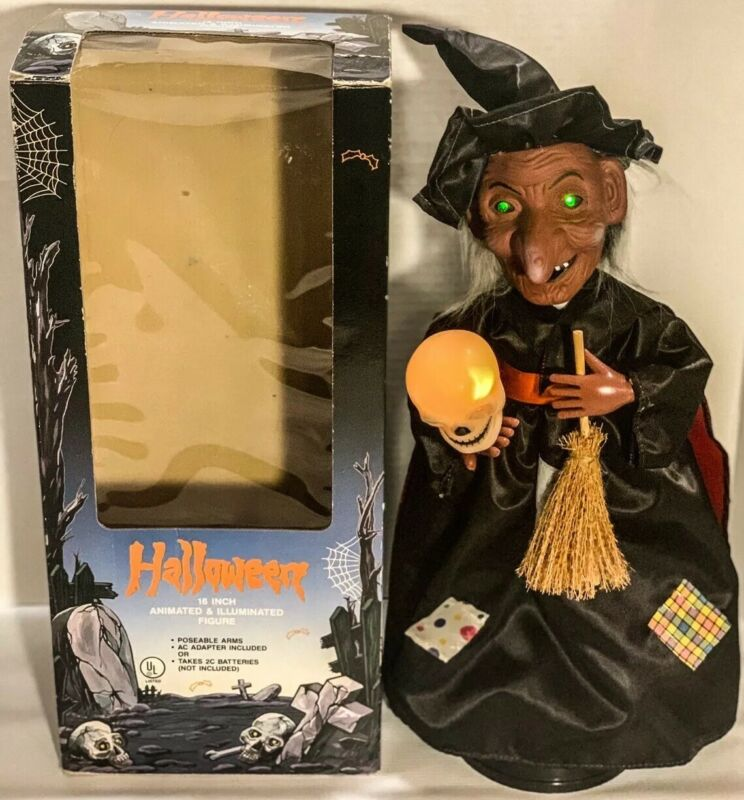 Vintage Halloween Animated Witch