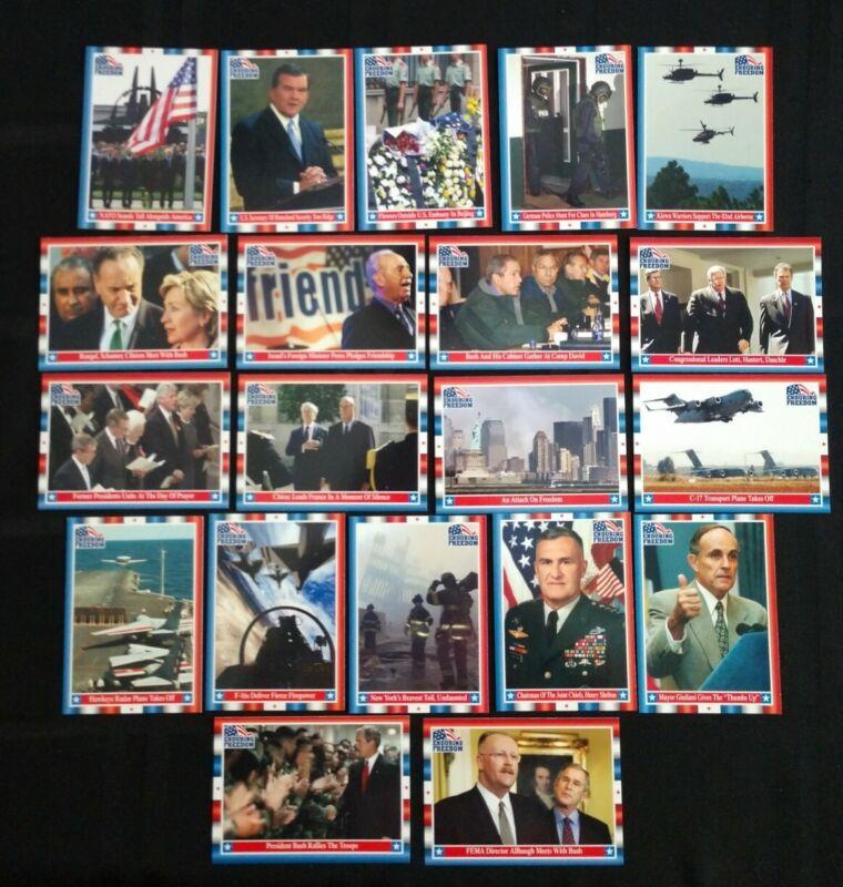 Lot Of 20 9/11 World Trade Center Cards War On Terror 2001 Topps