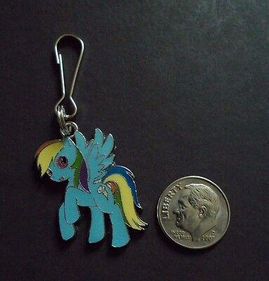 New Enamel My Little Pony Rainbow Dash Charm Zipper Pull Clip On Cartoon Charm