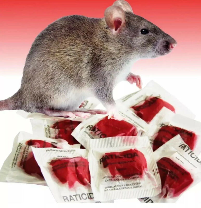 """""""This Stuff Really Works Fast"""" Rodenticide Rat Poison 25 Packets 250 Grams"""