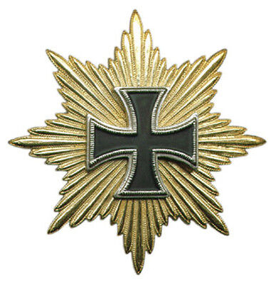 German Army War Battle General Iron Cross Star Ribbon Drape Medal Hat Badge Pin