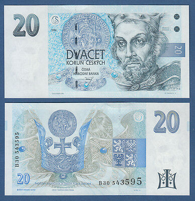 TSCHECHISCHE REPUBLIK / CZECH 20 Korun 1994 UNC  P.10 b