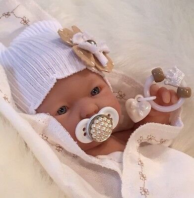 """WhiTe 9-10"""" Girl DOLL CLOTHES~PaCiFieR~ToY~FOR Micro Preemie Reborn's~Berenguer"""