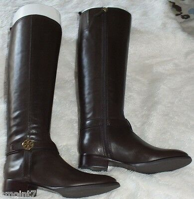 Tory Burch Bristol 30mm Boots-Leather Coconut Size 8.5 100% Authentic Guar. NIB