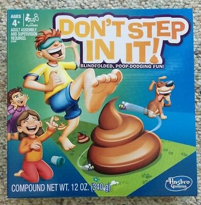 Hasbro Gaming DON'T STEP IN IT! Game Ages 4+ NEW AND UNOPENED