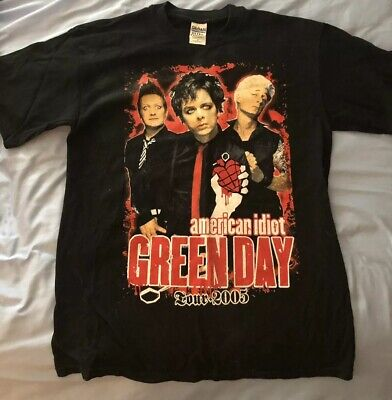 Vintage Green Day American Idiot 2005 Tour Shirt Black