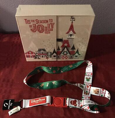 Disney Parks 2019 Christmas Holiday Pins Advent Calendar & Christmas Lanyard New