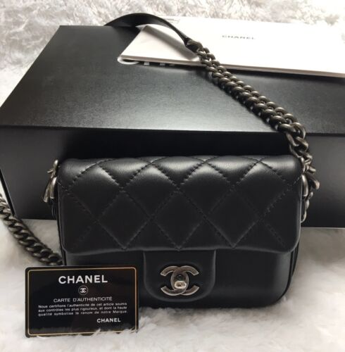 Chanel Rock my Shoulder Flap Bag Black Calfskin
