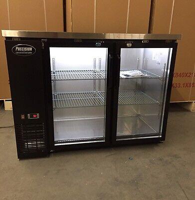 48 Back Bar Beer Cooler 2 Door Glass 4 Refrigerator Cooler New Bottle
