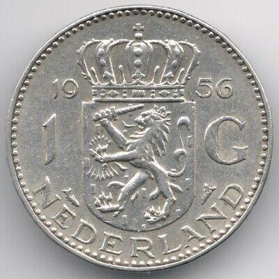 Netherlands : 1 Gulden 1956 Silver